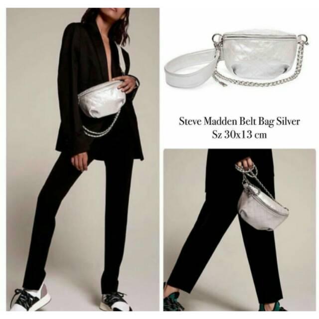 a561230f6e0 Steve Madden Belt Bag Silver