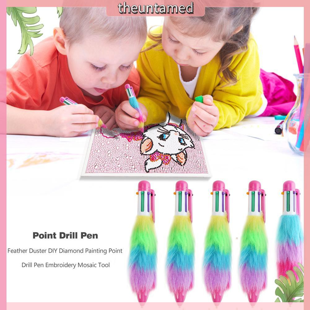 Feather Duster DIY Embroidery Diamond Painting Point Drill Pen Random Color