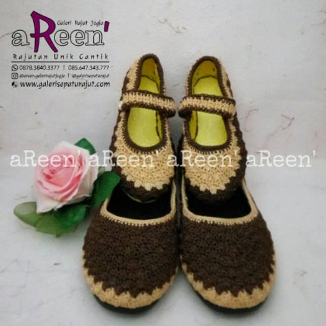 Sepatu rajut couple ibu dan anak  e65fbbe06a