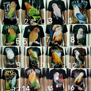 Jual Murah Kaos T Shirt Burung Lovebird 3d Kicau Mania Shopee Indonesia