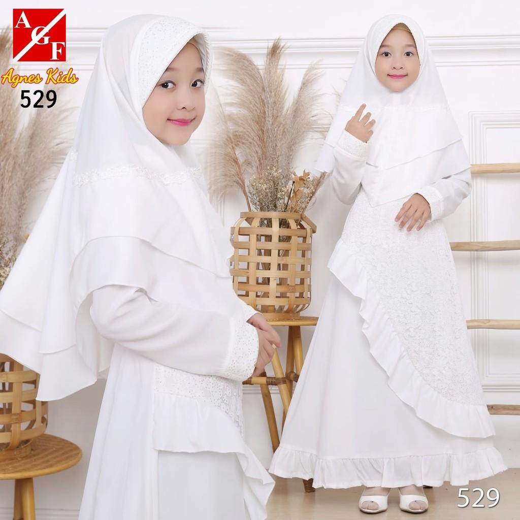 Baju Muslim Anak / Gamis Putih Anak / Baju Syari Putih / Gamis Umroh Anak /  Baju Lebaran Anak #10