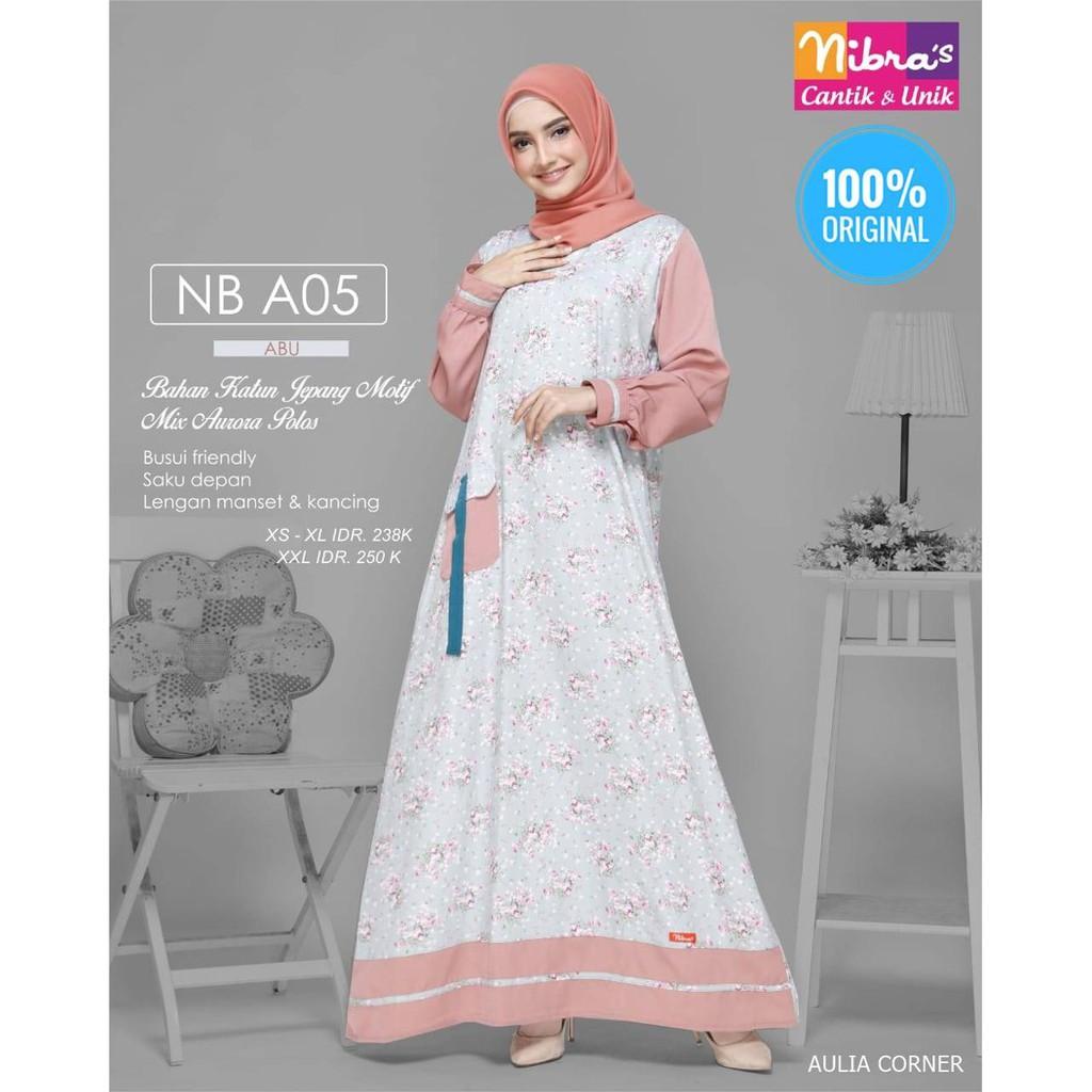 Gamis Wanita Modern 2019 Gamis Terbaru Nibras Nb A05 Abu Original Harga Mantap Shopee Indonesia