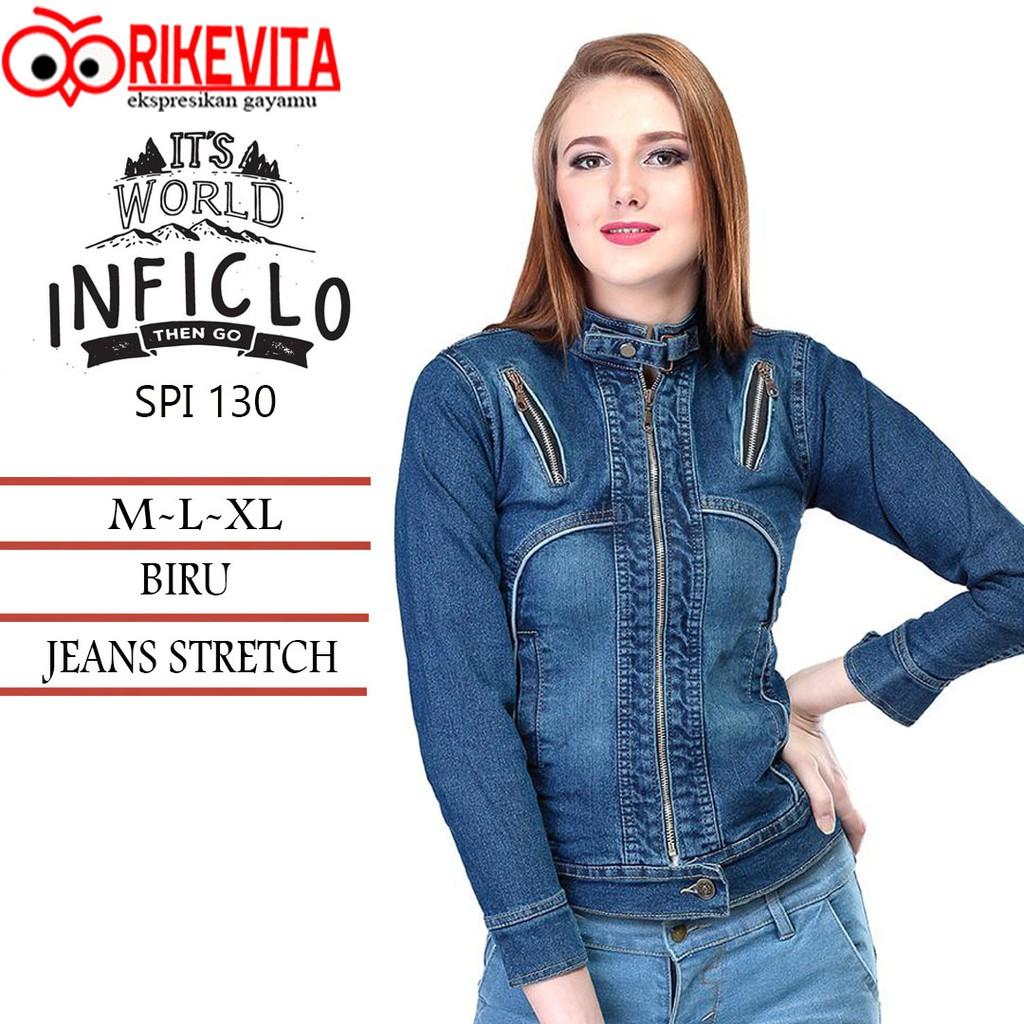 Jaket jeans denim inficlo wanita e4d044bb65