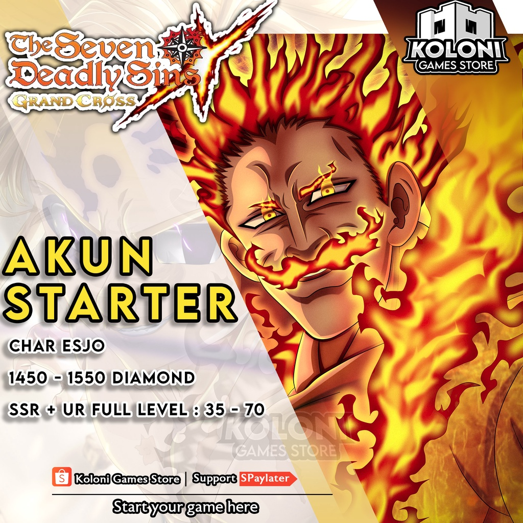 Akun Starter 7DS Seven Deadly Sins Grand Cross ASIA ESJO
