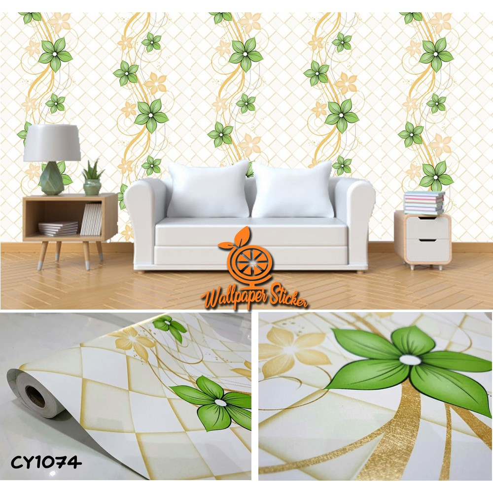 BAYAR DITEMPAT WALLPAPER STICKER MURAH 45cm X 10m Wallpaper Dinding Wallpaper Stiker Dinding CY1074
