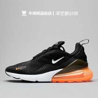 Original Outdoor Nike Air Max 270 Black and White Orange Nike Sports Running Air