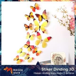 Stiker Dinding 3d Kamar Tidur Kupu Kupu Hiasan Dinding Bilik Untuk Kamar Tidur Anak Perempuan Remaja