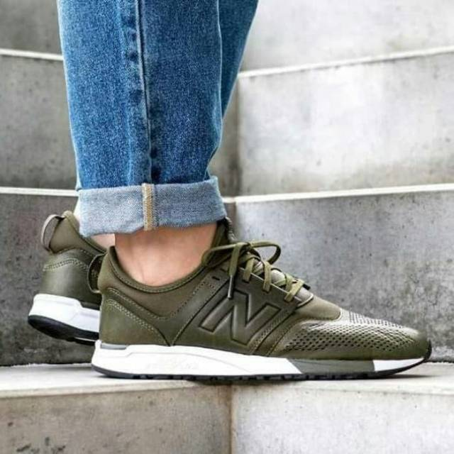 NEW BALANCE 247 Leather Olive Green