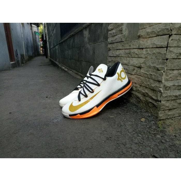 check out acb93 00368 Best Seller Sepatu Basket Nike Kd 6 Putih Gold   Shopee Indonesia
