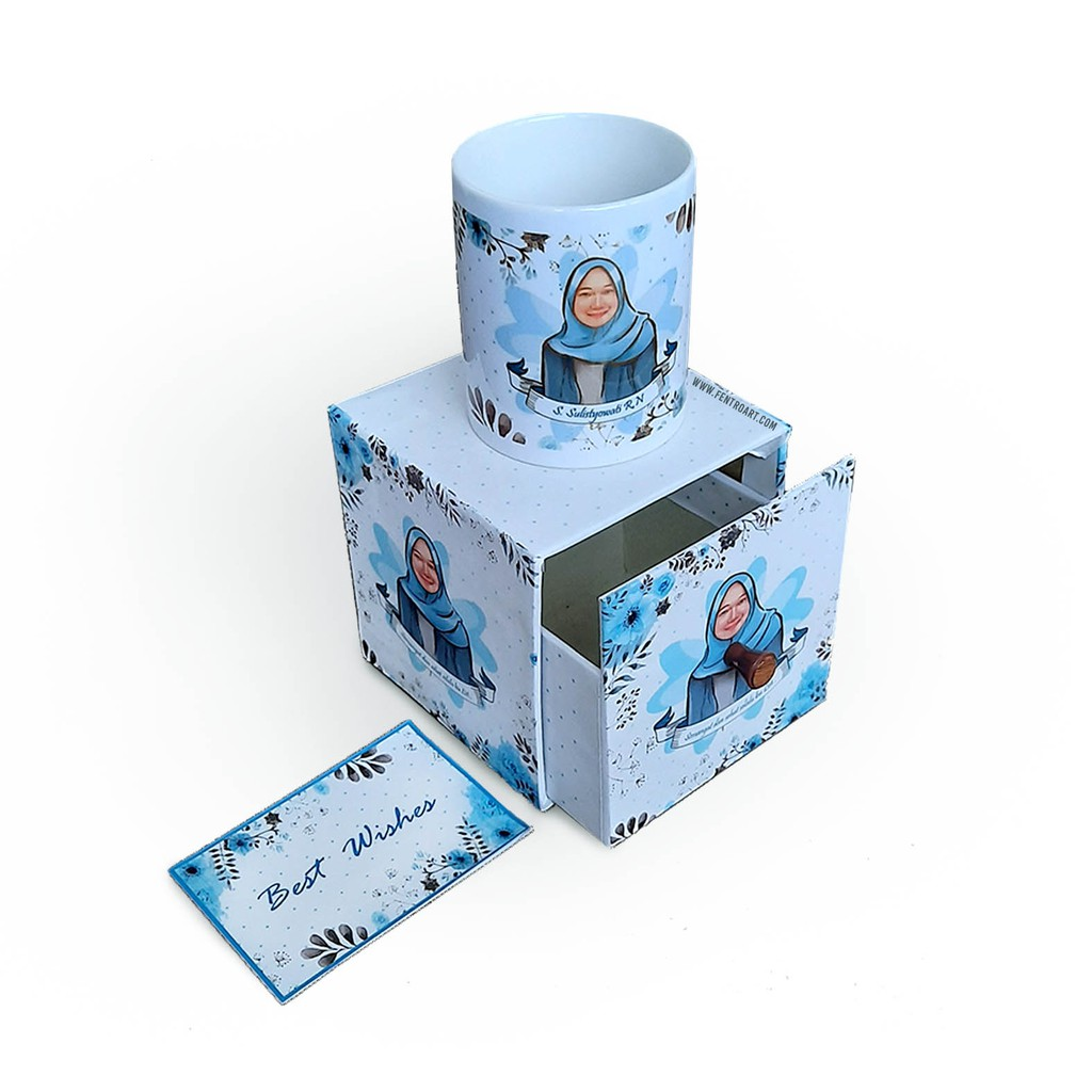 Kado Custom mug+box Proses Cepat! Kotak hadiah. kado ...