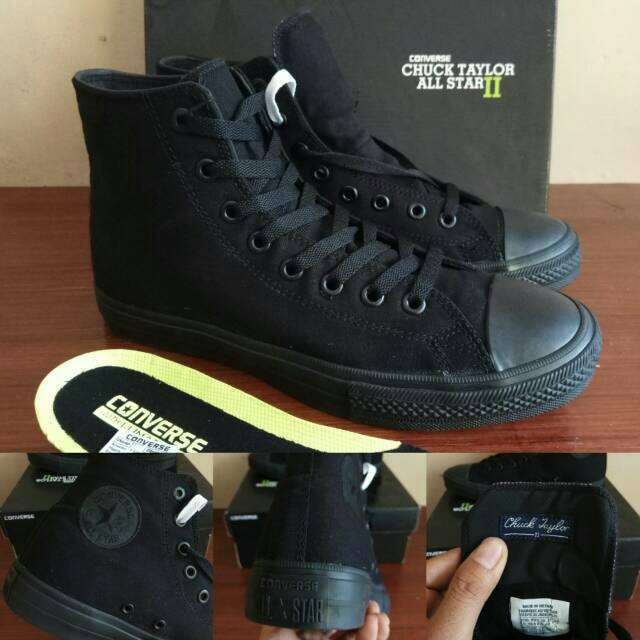 ec7078ca1fb3 Sepatu Converse CT Chuck Taylor 2 II All Star Full All Black Hitam -  Original Premium BNIB Vietnam