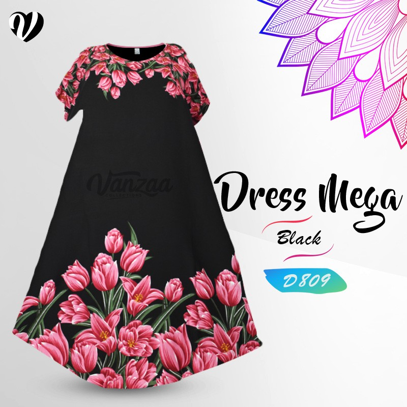 Paket Daster 7 pcs Daster Mega   Dress Vega Payung   Baju Midi Tidur   Pakaian