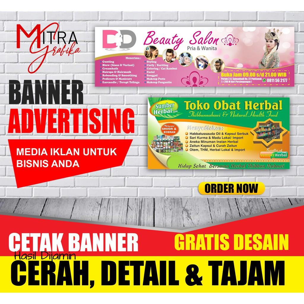Cetak Spanduk Mmt Banner Untuk Toko Warung Promosi Advertising Murah Berkualitas 2 Hari Jadi Shopee Indonesia