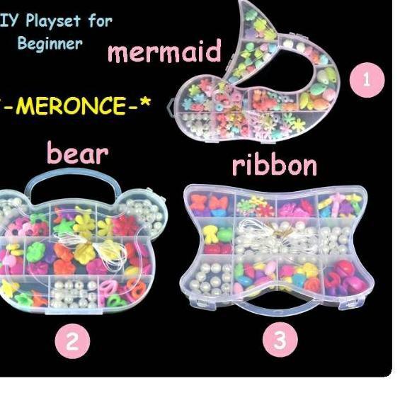12 12 Promo Meronce Manik Manik Gelang Kalung Mainan Anak Diy Shopee Indonesia