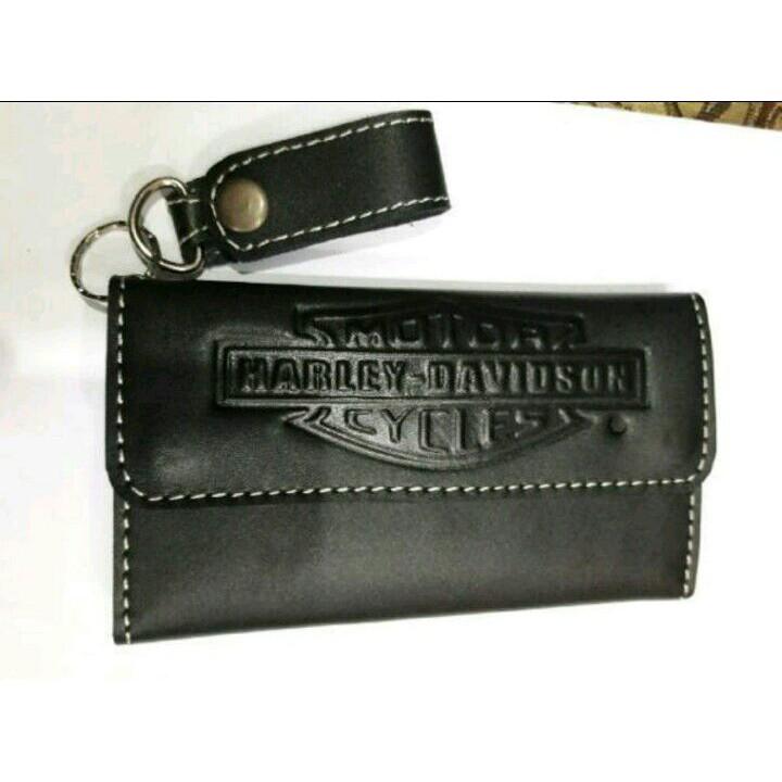 Dompet kulit asli pria sapi murah kartu lipat casual polos simple standar    79dbde3464