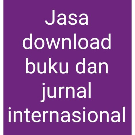 Jasa Download Buku Dan Jurnal Internasional Shopee Indonesia