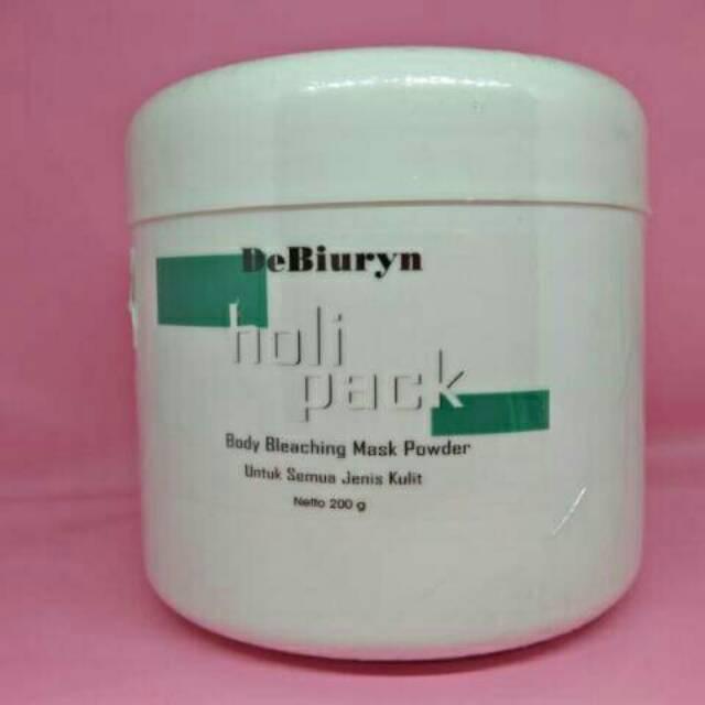 DeBiuryn HoliPack [ Body Whitening / Bleaching Mask | Masker Pemutih Badan ] | Shopee Indonesia