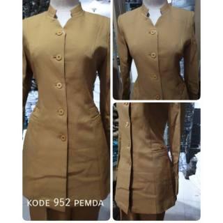 Baju Blazer Pemda Khaki Keki Cewek Dinas Kerja Guru Pns Kelurahan Kecamatan Walikota Provinsi Resmi