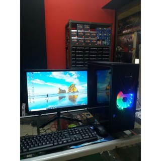 Pc gaming lengkap core i5 Ram 8 Gb Vga 2 Gb LED 19 inch LG siap paka