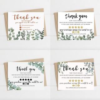 Thank You Card / Kartu Ucapan Terima Kasih Olshop Souvenir ...