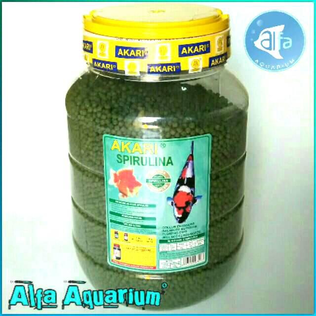 Akari Spirulina 4kg Pelet Ikan Yang Bagus Makanan Koki Koi