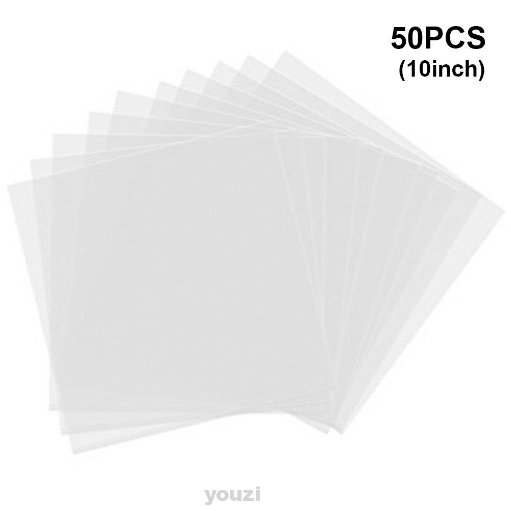 0.1mm Stretch Film BOPP Anti-Scratch Vinyl Record Protection Bag 50PCS Vinyl Record Bag Vinyl Record Outer Sleeves Fits for Any Record 12 Inches or Smaller