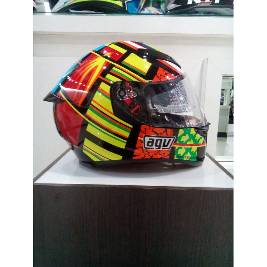 Aksesoris Motor Lainnya Shopee Helm Agv K3 Sv Element Visor Elements Full Visor Red Yellow K3sv Shopee Indonesia