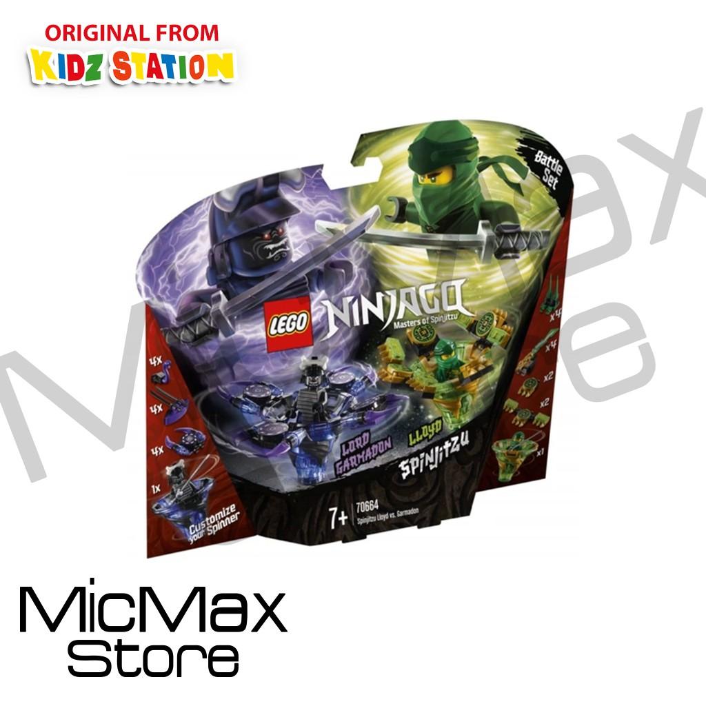 lego ninjago 70664 spinjitzu lloyd vs garmadon  shopee