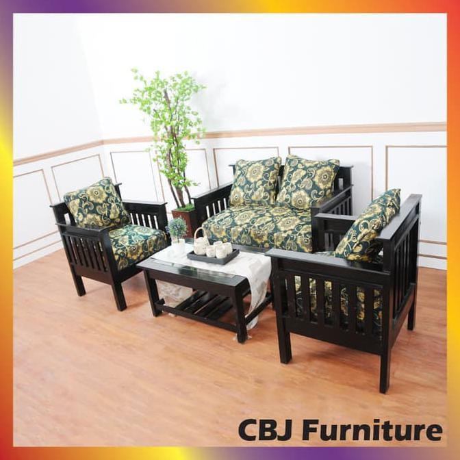Sofa Ruang Tamu Set 211 Meja Kode Nl 01 Kursi Tamu Kayu Minimalis Murah Shopee Indonesia
