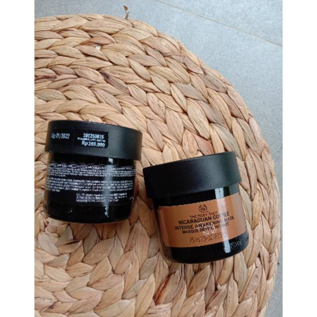 The Body Shop Nicaraguan Coffe Intense Awakening Mask 75ml Shopee Indonesia