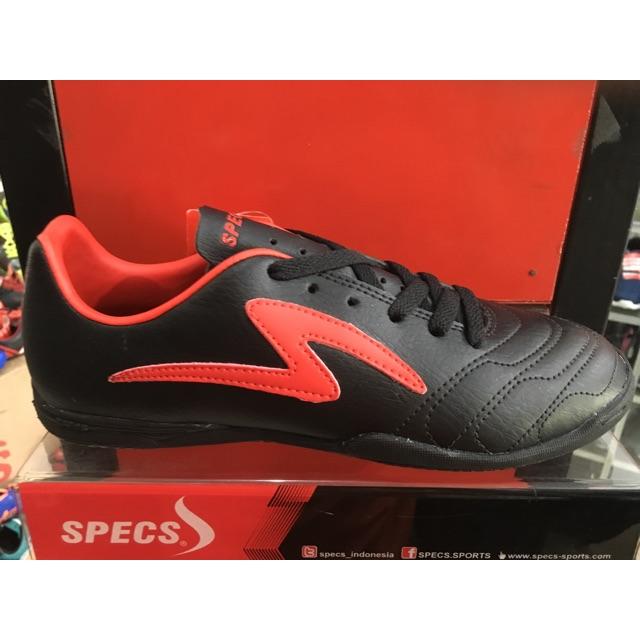 Sepatu Futsal Specs Ricco Warna Hitam Merah Original Shopee