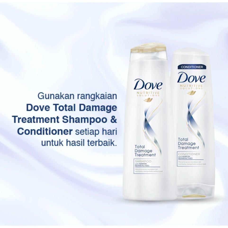 Dove Shampoo Total Damage Treatment 320 Ml Shampoo Rambut Creambath Shopee Indonesia