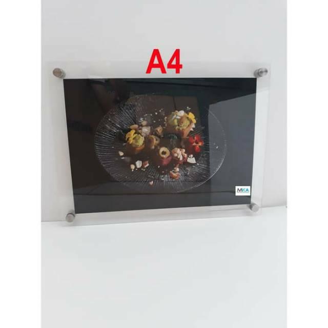 Akrilik Frame Foto / Akrilik Poster Dinding Ukuran A4 ...
