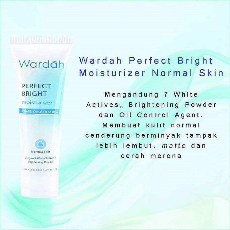 Wardah Perfect Bright Moisturizer Untuk Kulit Berjerawat