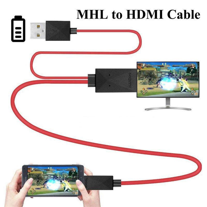 Black MHL to HDMI converter Micro USB to HDMI Cable Adapter with Video Audio Output