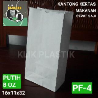 KANTONG MAKANAN 8OZ PUTIH BESAR/TAS KERTAS PAPERBAG PAPER BAG BURGER | Shopee Indonesia