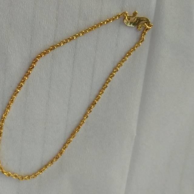 Gelang emas 3 gram 900%