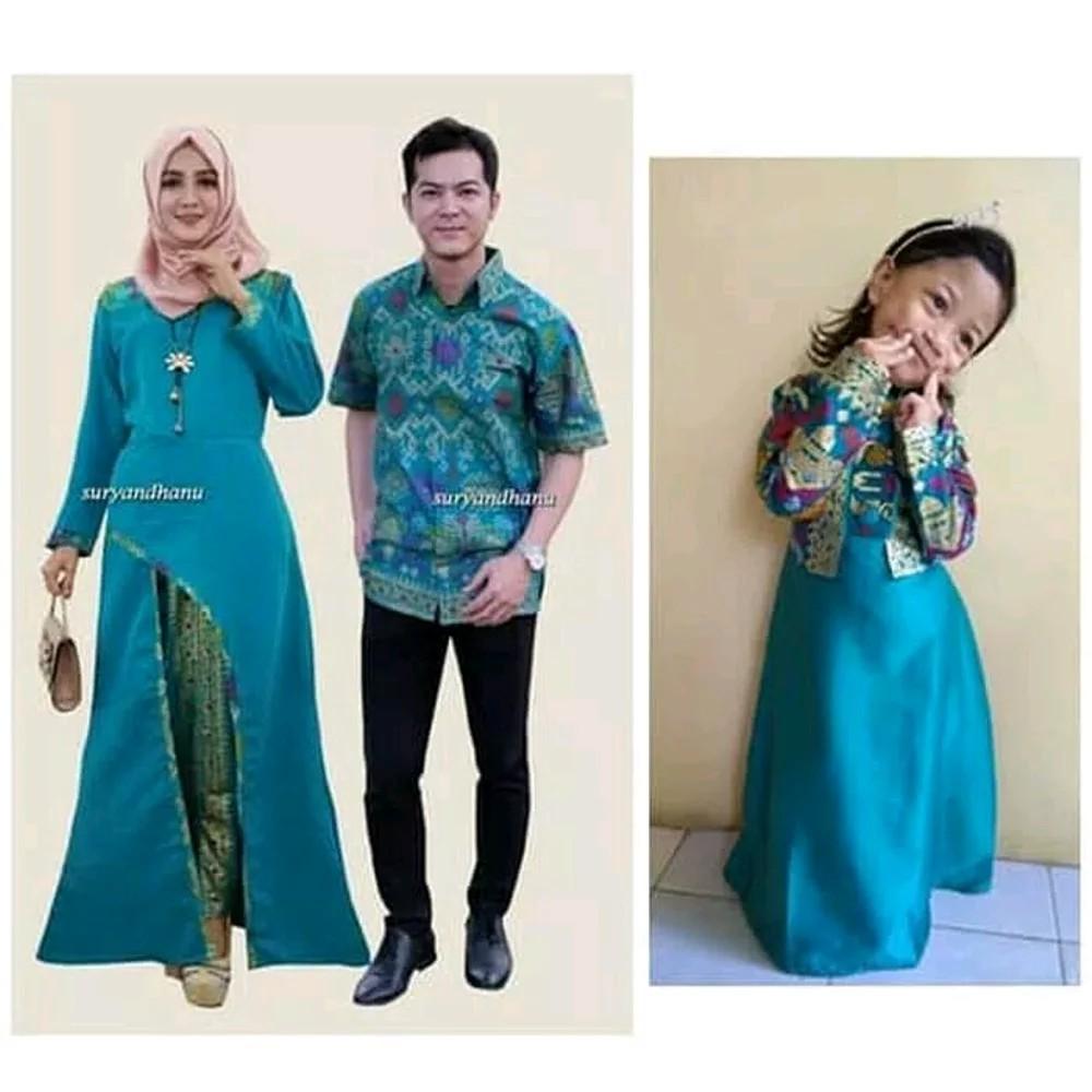 Cp Kartika Baju Muslim Couple Batik Modern Sarimbit Pasangan Gamis Raindoz Bbr251 Keluarga Biru Shopee Indonesia