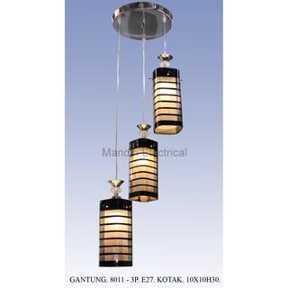 Lampu Gantung Dekorasi Ruang Tamu Meja Makan Minimalis 8011 3p Ch