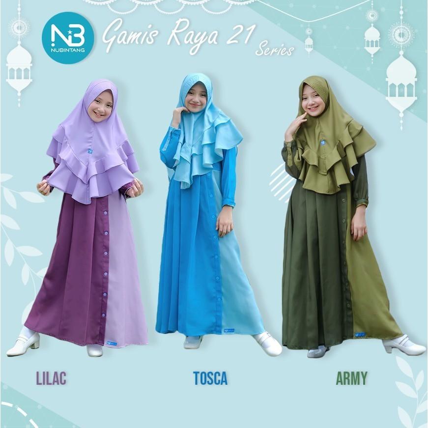 Gamis Anak Raya21 Set Jilbab by Nubintang