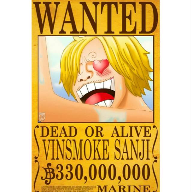 Poster Buronan Vinsmokee Sanji One Piece Laminasi Lamimating Shopee Indonesia