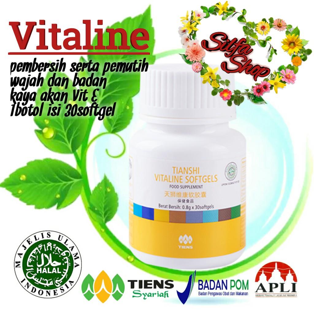 Pemutih Wajah - Whitening Skincare Vitaline Softgel Tiens | Shopee Indonesia