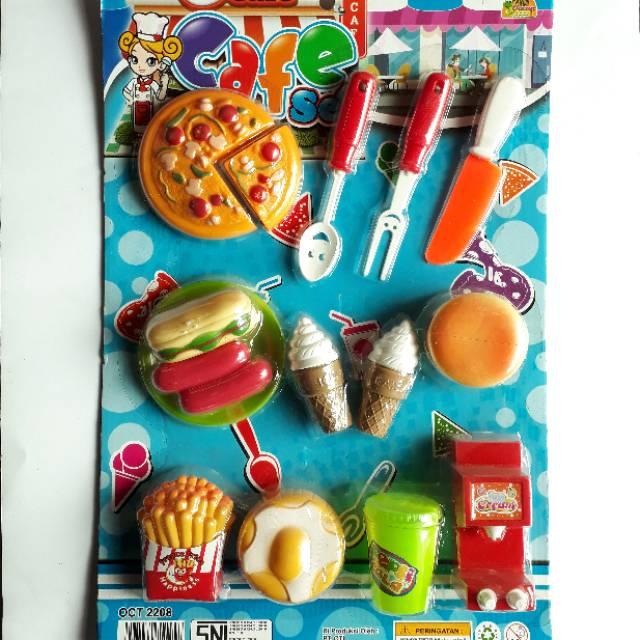 Masak Masakan Lengkap Besar Mainan Anak Cafe Set Shopee Indonesia