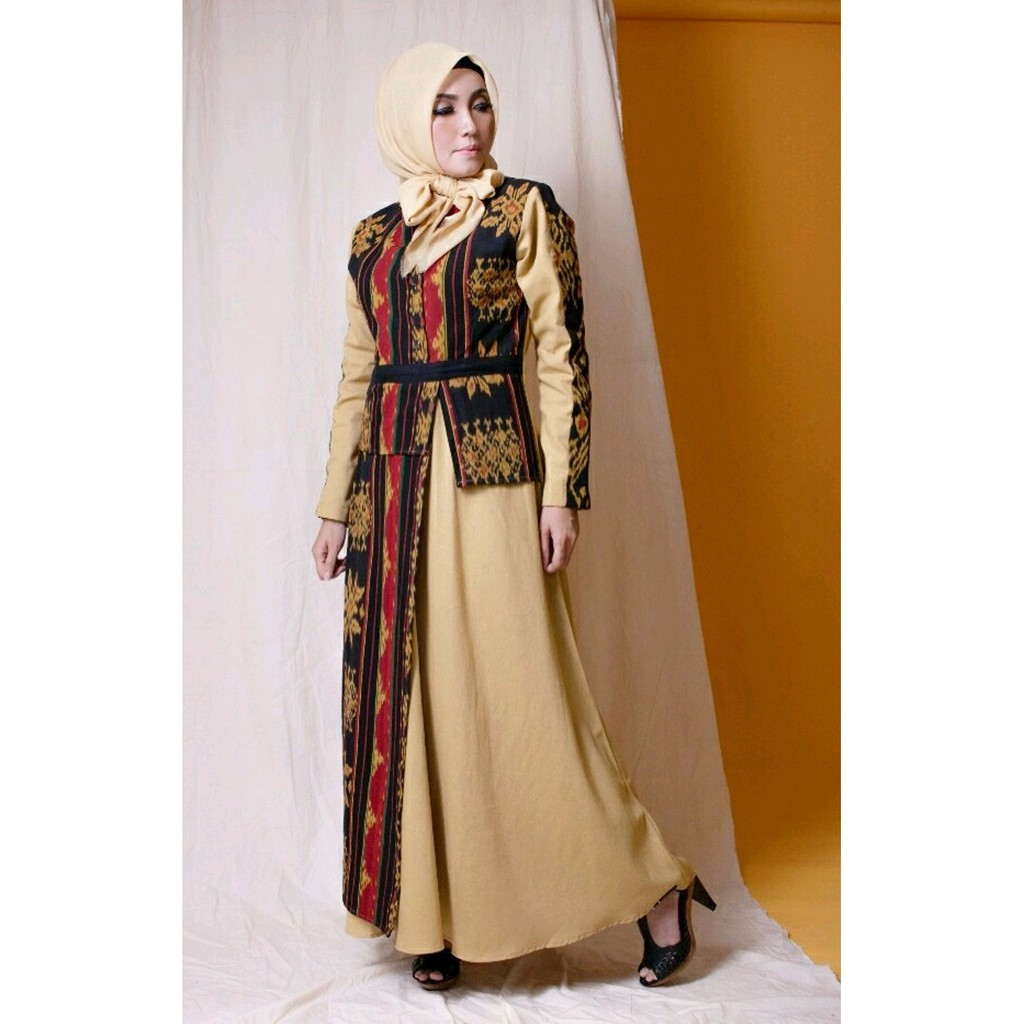 Gamis Tenun Troso - Jilbab Gucci