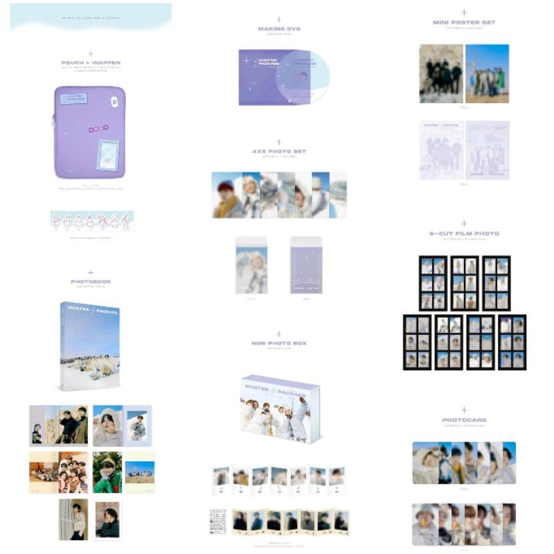[READY] bts official sharing 2021 winter package photocard photo set pouch