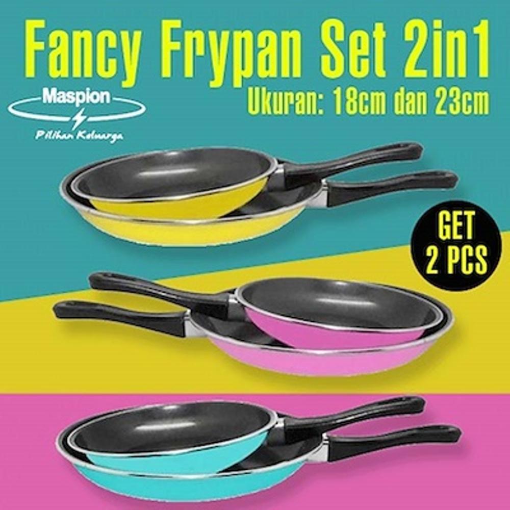 Maspion Wajan Teflon Frypan Set 2 Pcs 18 Cm 23 Shopee Indonesia Milkpan Dan Pastela