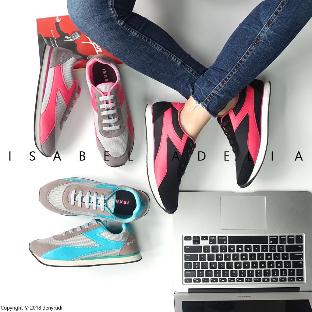 Sepatu Sneakers Wanita Model Sport Korea Warna Merah  836c04b258