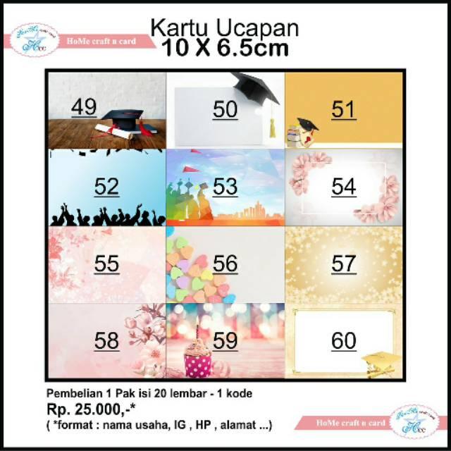Kartu Ucapan Untuk Buket Bunga Per Pack Shopee Indonesia