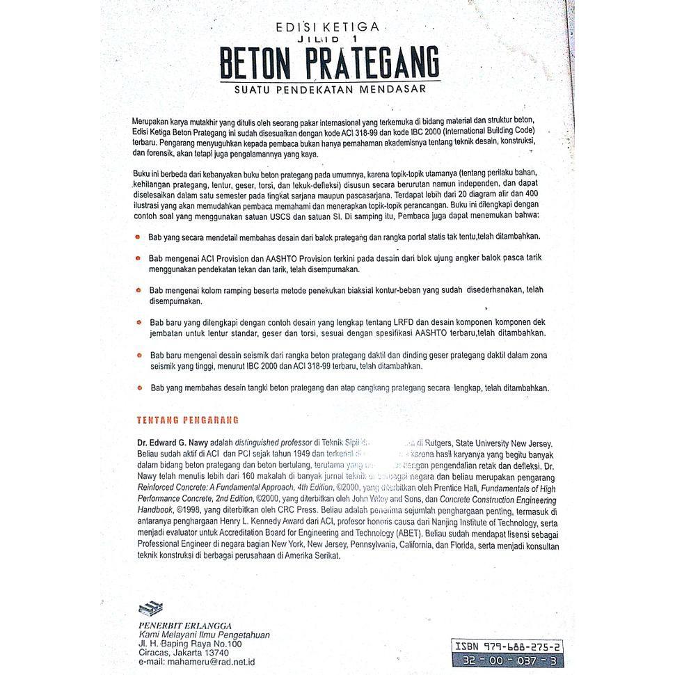 Sale Beton Prategang Edisi Ke 3 Jilid 1 Edward G Nawy Segera Beli Shopee Indonesia