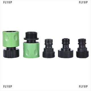 5PCS Set Water Hose Fitting Pipe Joint Tube Garden Tap Quick Connector Adaptor